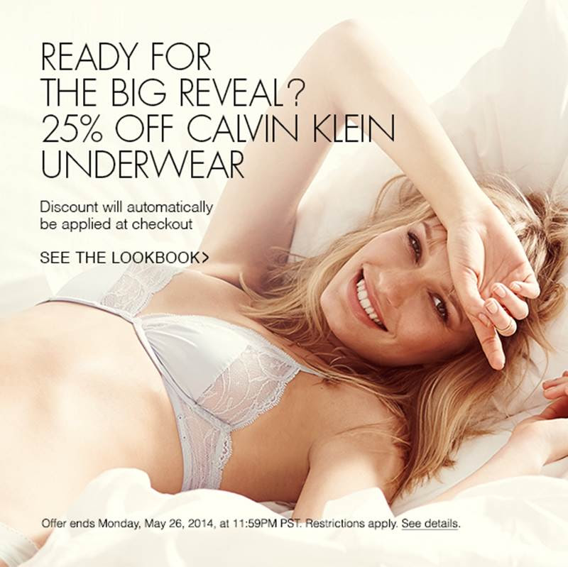 25% Off Calvin Klein Underwear at Shopbop