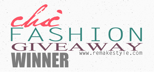 Chic Fashion Giveaway Winner