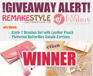 RemakeStyle X Eazy Fashion Giveaway Winner