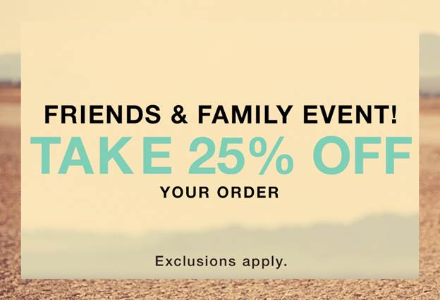 Shopbop Friends and Family Sale 2015