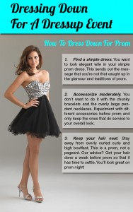 5 Tips for Dressing Down at the Prom