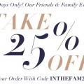 Friends and Family Sale at Shopbop and get 25% off