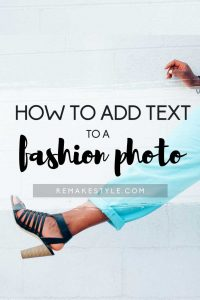 How to Add Text to a Fashion Photo