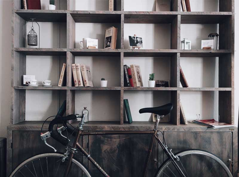 mini library and a bike